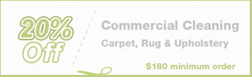 Cleaning Coupons | 20% off commercial cleaning | Brooklyn Rug Cleaning