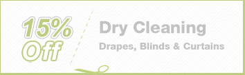 Cleaning Coupons | 15% off drapes, blinds and curtains | Brooklyn Rug Cleaning